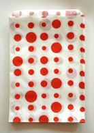 Traditional Sweet Shop Random Dots Paper Bag - Red Dots