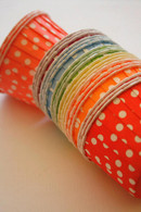 Polka Dot Nut or Portion Paper Cups Variety Pack - Rainbow Mix