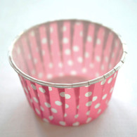 Polka Dot Nut or Portion Paper Cups - Pink