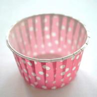Polka Dot Nut or Portion Paper Cups - Pink