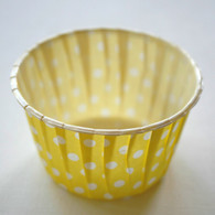 Polka Dot Nut or Portion Paper Cups - Yellow