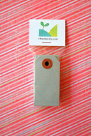 Mini Shipping Paper Tags - 1.375 x 2.75 - Grey