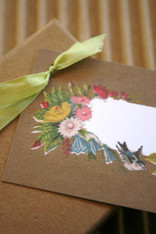 Packaging and Gift Cards - Vintage Antique Bird and Floral Design - Tags