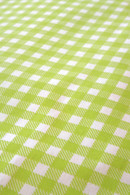 Lime Gingham Flat Paper Merchandise Bags - 8.5 x 11 Inches
