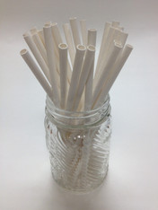 White Paper Drinking Straws - made in USA