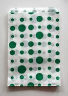 Traditional Sweet Shop Random Dots Paper Bag - Green Dots
