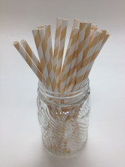 Latte - Ivory Paper Drinking Straws - made in USA
