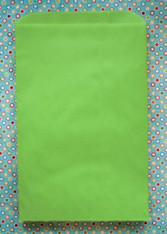 Merchandise Bags - Flat Paper - Apple Green 6.25 x 9.25 Inches