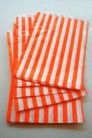Traditional Sweet Shop Candy Stripe Paper Bag - Orange Stripes