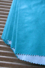 Bakery Bags - Teal Glassine Lined- 5.75 x 7.5 Inches