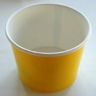 Ice Cream Cups Yellow 16 oz. Paper