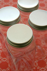 Plastic Bottles Aluminum Lids - 8 Ounce Capacity - Crystal Clear PET - Perfect for Parties or Lunches