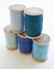 Rayon Binding Tape Color Pack - 10 Yds Each Five Colors - 50 Yards on Wooden Spools
