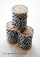 Packaging Twine - Black - 30 Yards on Wooden Spool