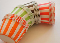Striped Nut or Portion Paper Cups Variety Pack - Rainbow Mix