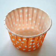 Polka Dot Nut or Portion Paper Cups - Orange and White