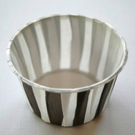 Striped Nut or Portion Paper Cups - Brown and White