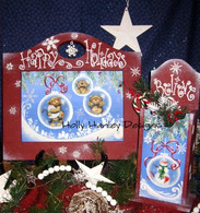 Happy Holidays Utensil Holder & Frame Pattern Packet