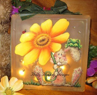 Spring Bunny Glass Block E-Packet