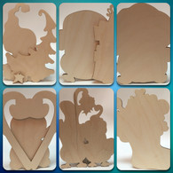 Penguin Joy Ornies Wood cut outs Set of 6