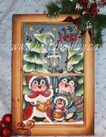 Noel Caroling Penguins Screen E Packet