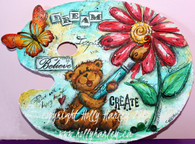 Dream, Believe, Create Palette bear