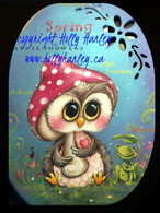 Spring Showers Owl Oval Pattern Packet