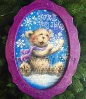 Welcome Frosty Flakes Oval Pattern Packet