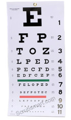 "Snellen Wall Eye Chart 22"" by 11"""