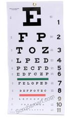 """Snellen Wall Eye Chart 22"""" by 11"""""""