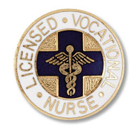 LVN Licensed Vocational Nurse Round Emblem Pin