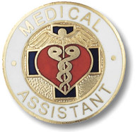 Medical Assistant Round Emblem Pin