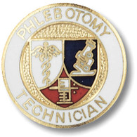 Phlebotomy Technician Emblem Pin