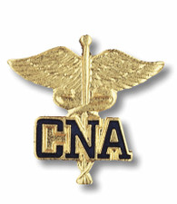 CNA Certified Nursing Assistant Emblem Caduceus Pin