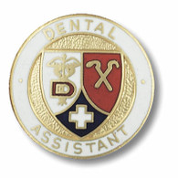 Dental Assistant Emblem Round Pin
