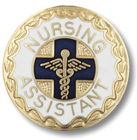 Nursing Assistant Round Emblem Pin
