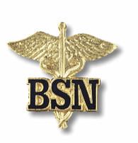 BSN Caduceus Bachelors of Science in Nursing Lapel Emblem Pin