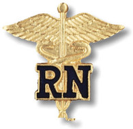 EMI RN Caduceus (Registered Nurse) Lapel Emblem Pin