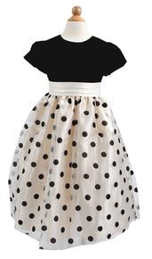 Flower Girl Dress Selina Polka Dot-Wholesale