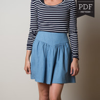 Crescent Skirt by Sewaholic Patterns, View B