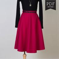 Hollyburn Skirt by Sewaholic Patterns, View A