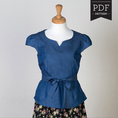 Alma Blouse by Sewaholic Patterns, View A