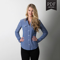 Granville Shirt by Sewaholic Patterns, View A