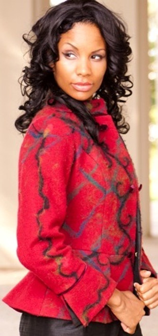 Designer's Signature - Women's Merino Wool Jacket with Peplum