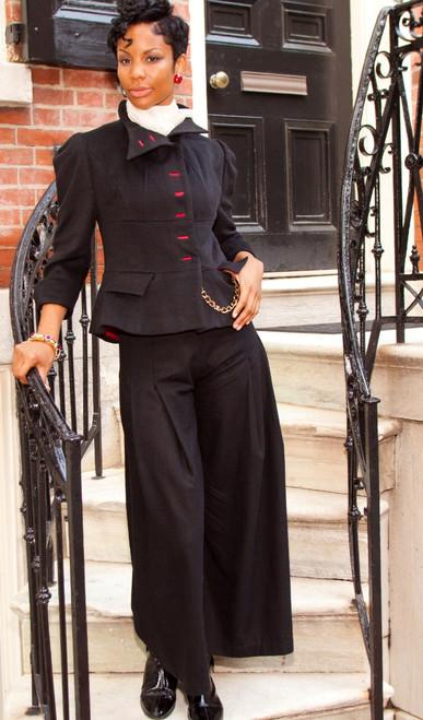 Short Cashmere Jacket with Peplum