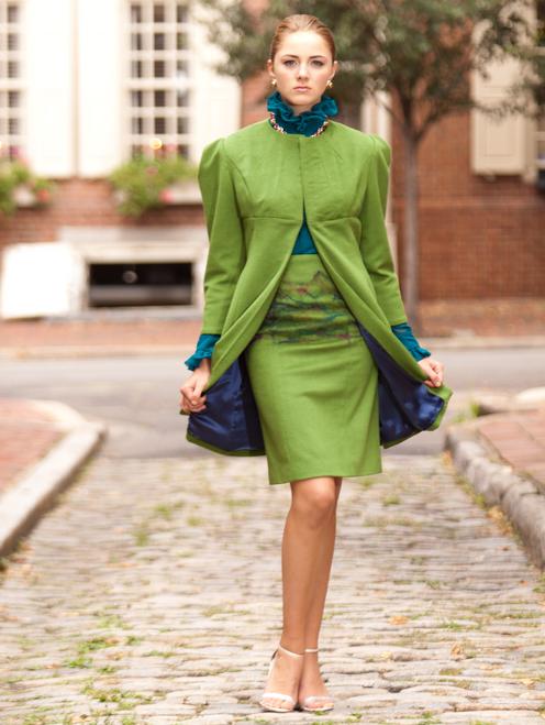 Chatelaine Naomi - 100% Cashmere Dress Coat-Jacket Knee Length