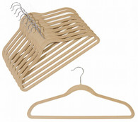 Camel Velvet Suit Hangers (Sold in Bundles of 20/50/100)
