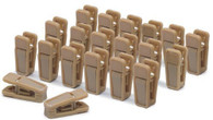 Camel Colour Colour Finger Clips Sold in Bundles 25/50/100 pcs