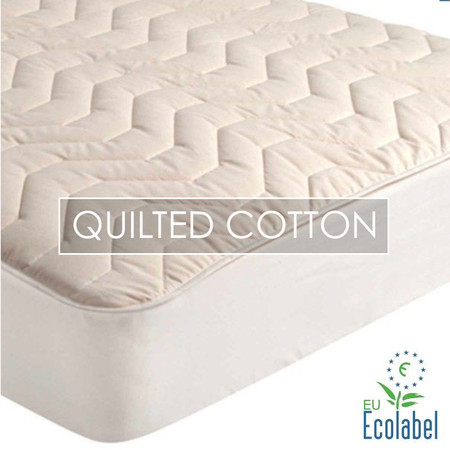 Natural Cotton Quilted Mattress Pad : quilted mattress covers - Adamdwight.com
