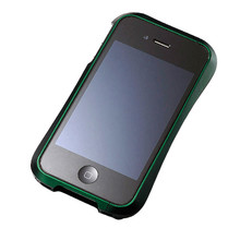 DRACO 4 Handcraft Aluminum Bumper - for iPhone 4 (Green)
